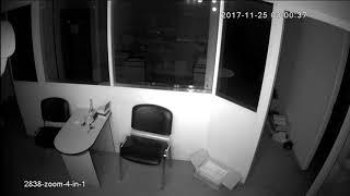 Видеокамера AHD IVM-2838-ZOOM-4-in-1. 2MP, MN34227, NVP2441H, 2.8-12мм моторизованный. Офис, ночь.