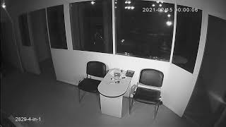 Видеокамера AHD IVM-2829-4-in-1. 2MP, IMX307, NVP2441H, 2.8мм. Офис, ночь.