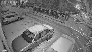 Видеокамера IP IVM-2329-2.8. Улица, снежная ночь