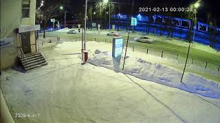 Видеокамера AHD IVM-2329-4-in-1. 2MP, IMX307, NVP2441H, 3.6мм. Улица, ночь.