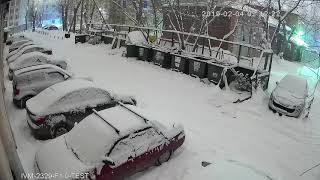 Снежная ночь!