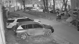 Видеокамера IP IVM-2749-POE. Улица, ночь.